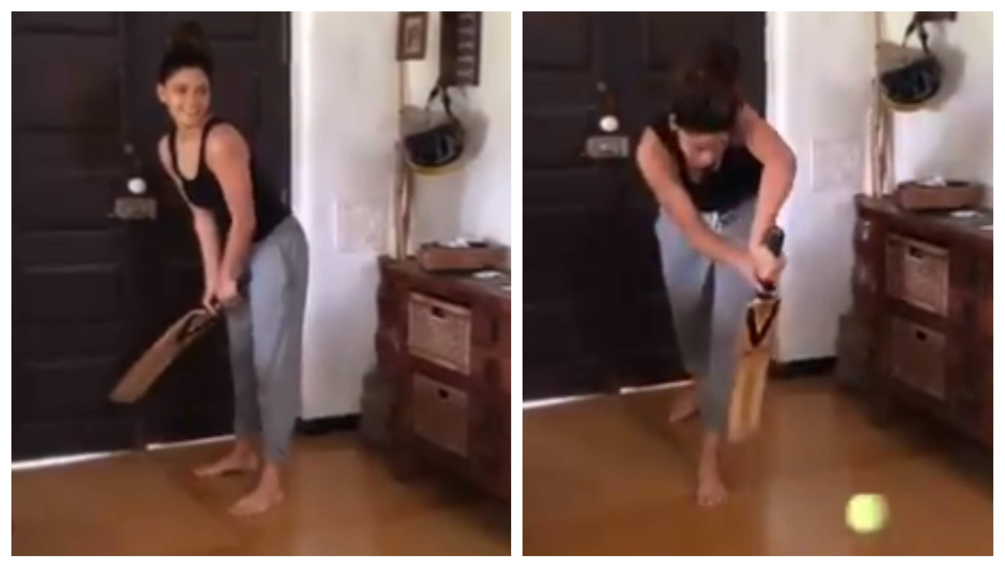 WATCH: Bollywood actress Saiyami Kher impresses cricket fans with her straight bat & solid defence