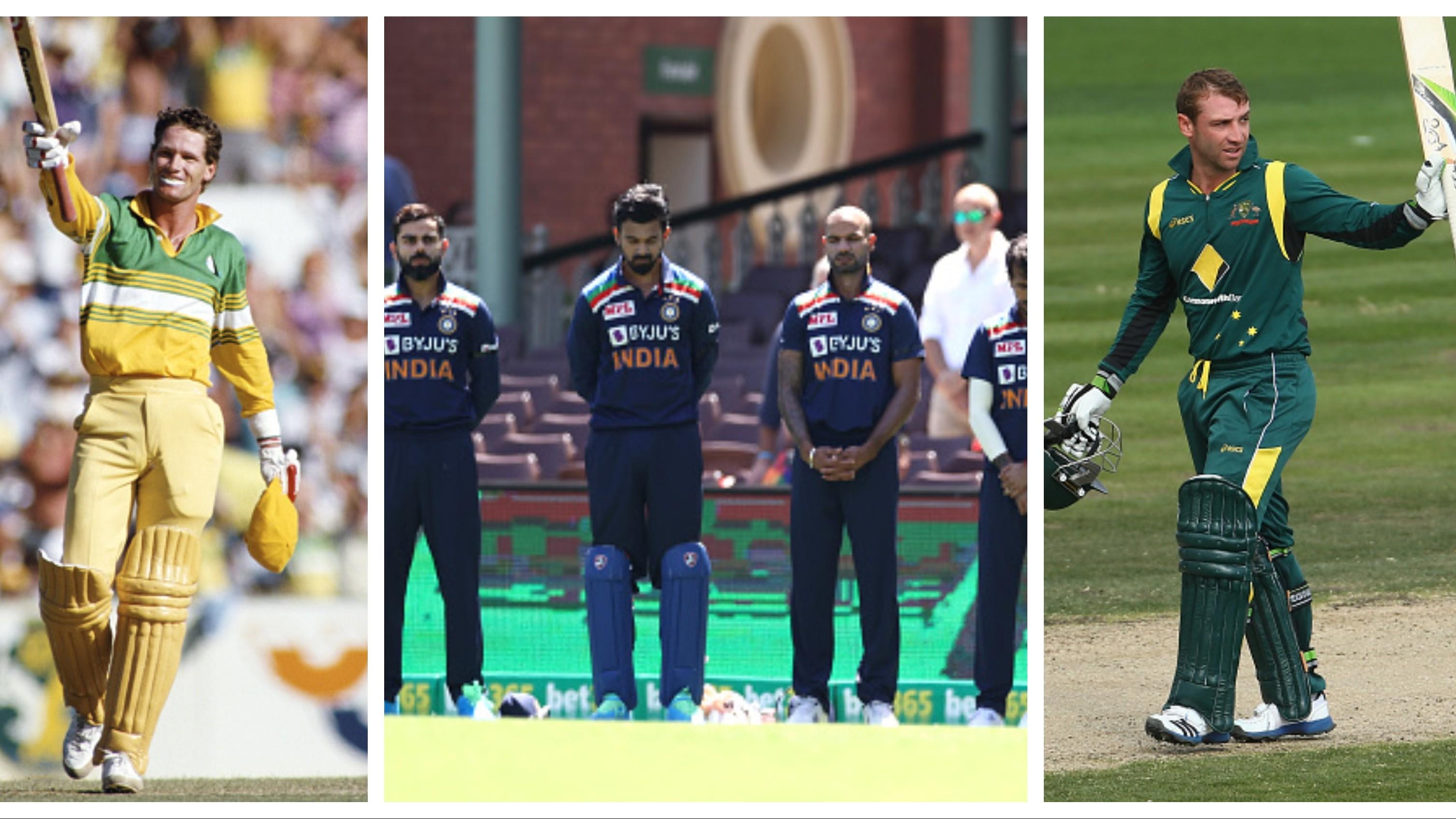 AUS v IND 2020-21: Indian team sport black armbands in memory of Phil Hughes, Dean Jones