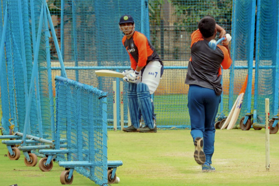 MS Dhoni bats at the nets | File Photo