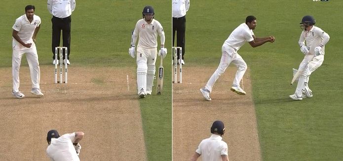 Ashwin completes an easy catch of Ben Stokes as non-striker Sam Curran makes way for him | Screengrab