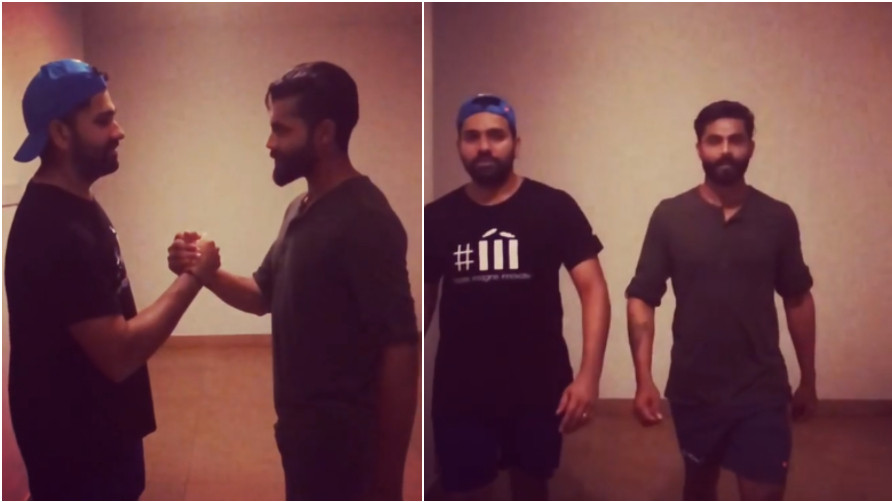 WATCH: Rohit Sharma gives a 'royal' welcome to 'Sir' Ravindra Jadeja on Instagram