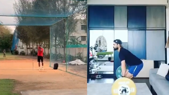 WATCH: R Ashwin begins training in nets; Virat Kohli shares his weightlifting drills