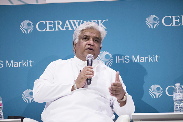 Arjuna Ranatunga during his term as Petroleum minister | Getty