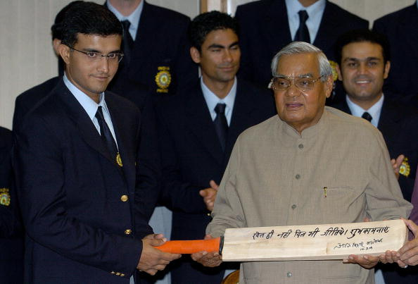 Sourav Ganguly with Atal Bihari Vajpayee | Getty Images