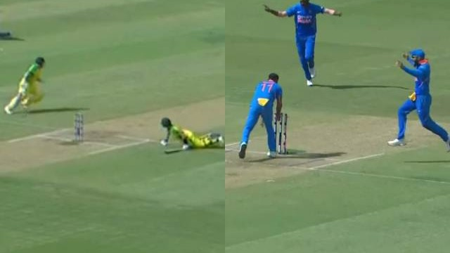 IND v AUS 2020: WATCH – Smith runs out Finch in a comical sequence during Bengaluru ODI