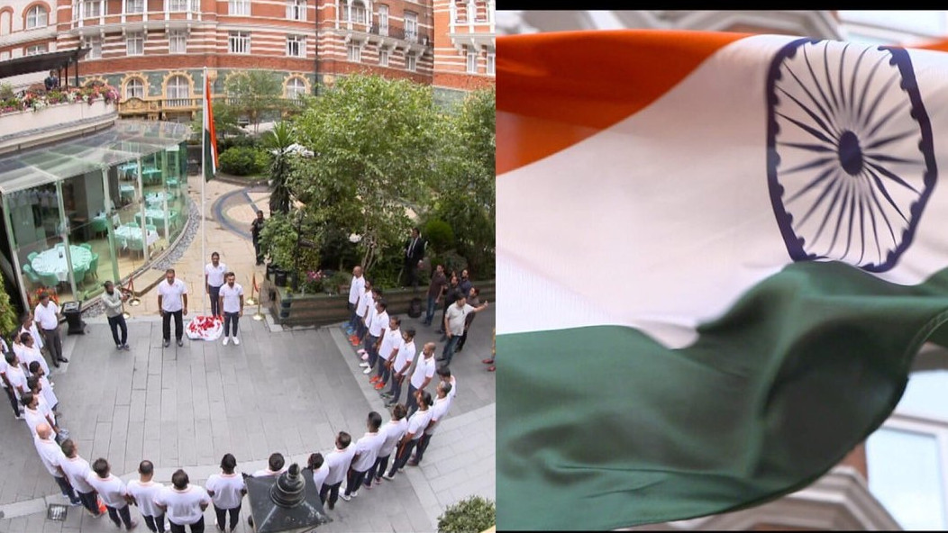 PICS: Team India celebrates India's 72nd Independence Day in England