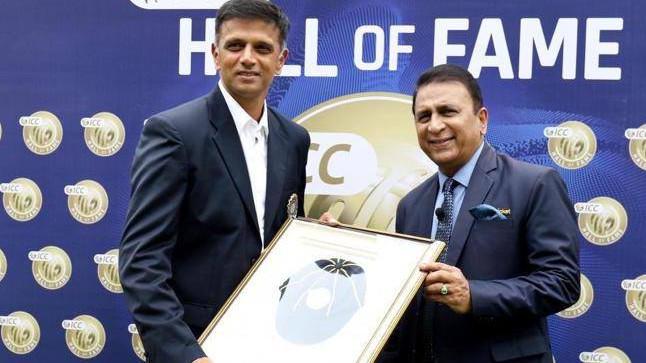 WATCH: Rahul Dravid receives 'ICC Hall of Fame' cap from Sunil Gavaskar