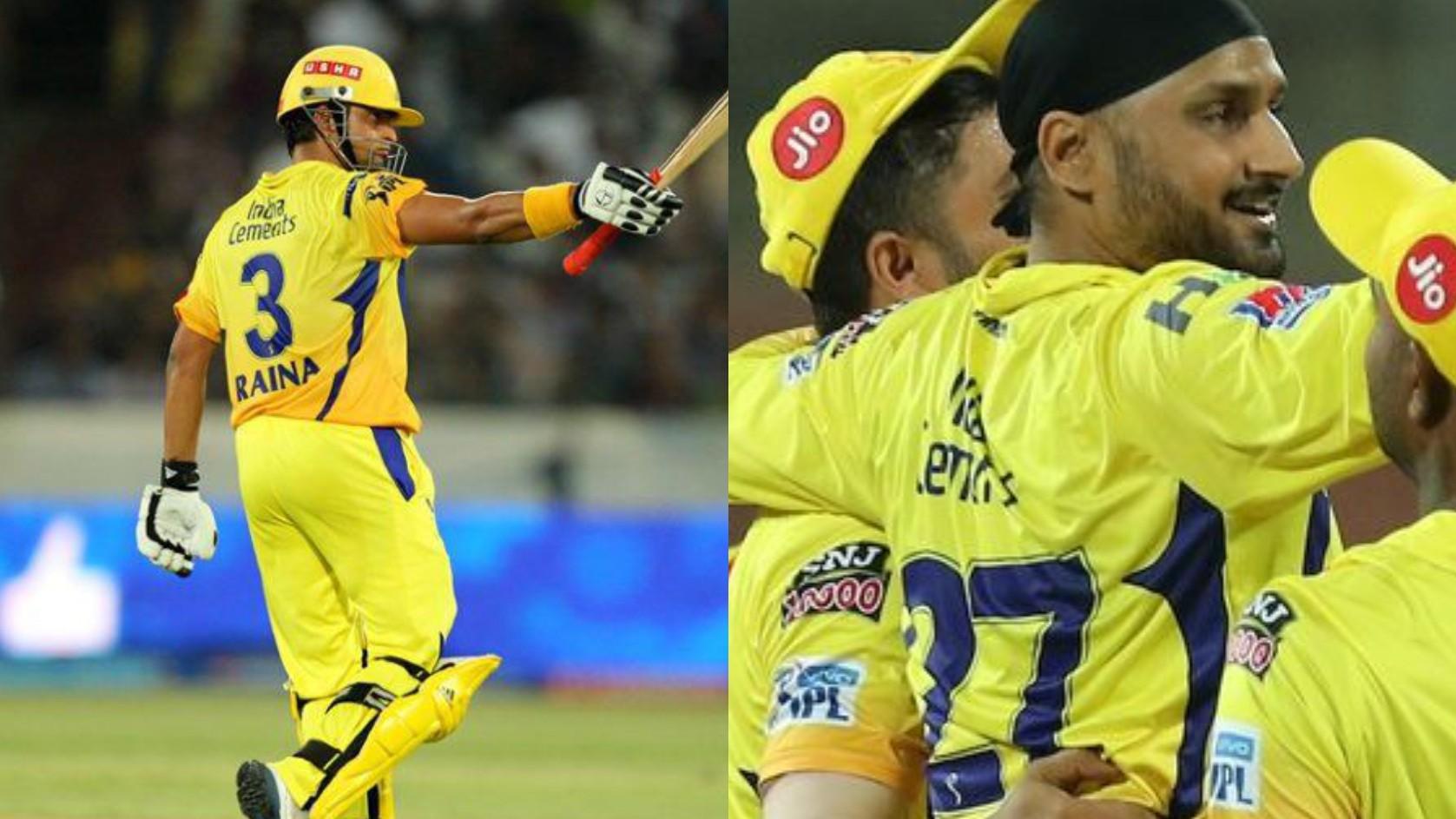 CSK reveals Harbhajan Singh's lovely gesture for Suresh Raina over jersey number