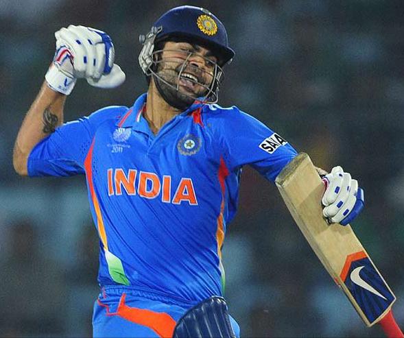 Virat Kohli slammed 183 runs in chase of 330-run target