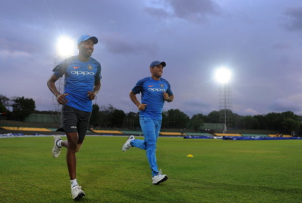 Hardik Pandya and MS Dhoni | GETTY