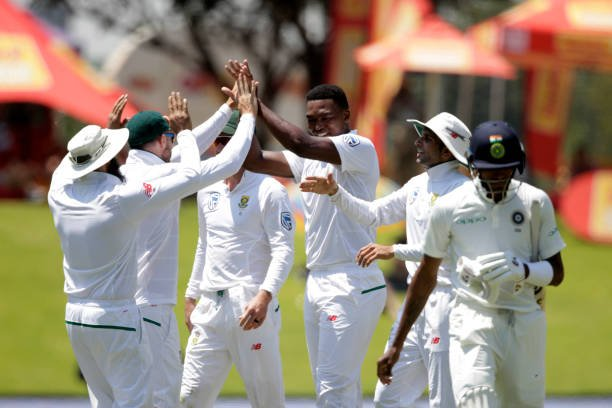 Lungi Ngidi completes a 6-wicket haul to finish the game in the first session of Day 5 | Twitter