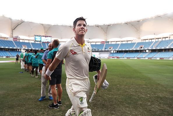 Tim Paine batted till the end and ensured that his team comes out from the game with a draw | Getty