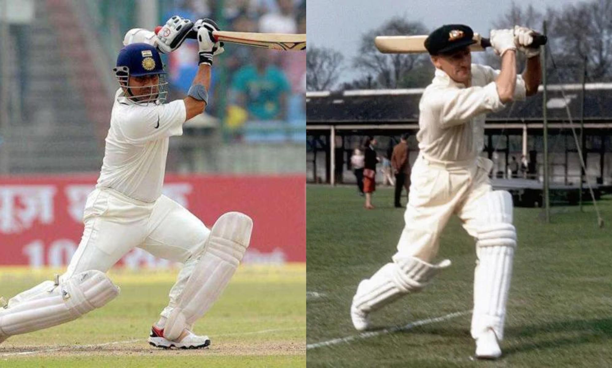 Sachin Tendulkar and Sir Don Bradman- two of the greatest right-handed batsman ever