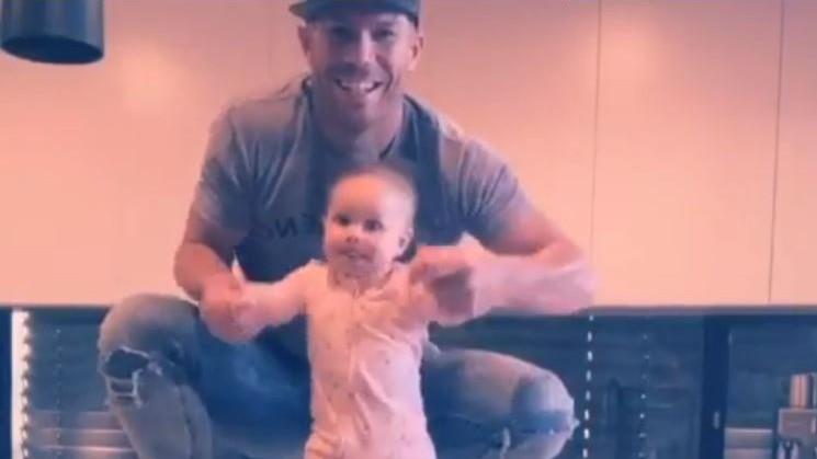 WATCH- David Warner has fun on TikTok with his youngest daughter Isla Rose