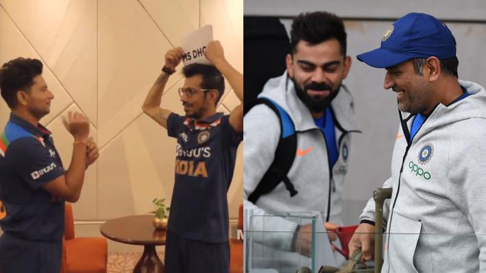 SL v IND 2021: WATCH - Kuldeep Yadav imitates Kohli, Dhoni in a fun game with Yuzvendra Chahal