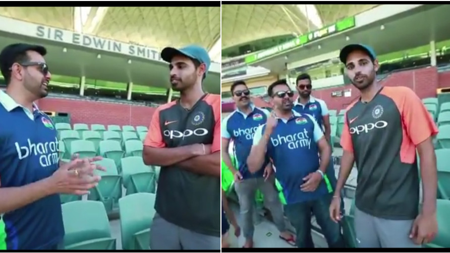 AUS v IND 2018-19: WATCH- Bharat Army dedicates a song to Bhuvneshwar Kumar