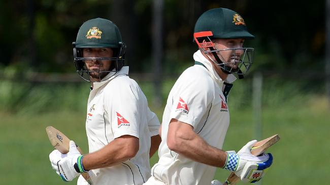 Joe Burns and Shaun Marsh | Source Getty