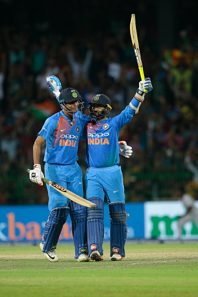 Dinesh Karthik played a knock of 29 not out from 8 balls in the final   AFP