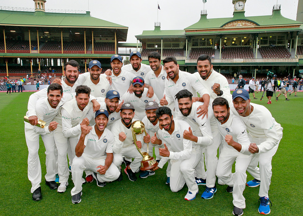 India players delighted after winning the Border-Gavaskar Trophy down under | Getty