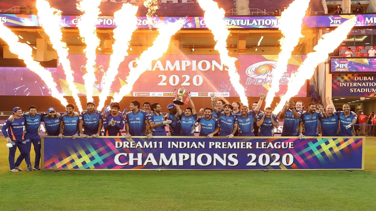 Mumbai Indians was crowned fifth IPL trophy on Tuesday | BCCI/IPL