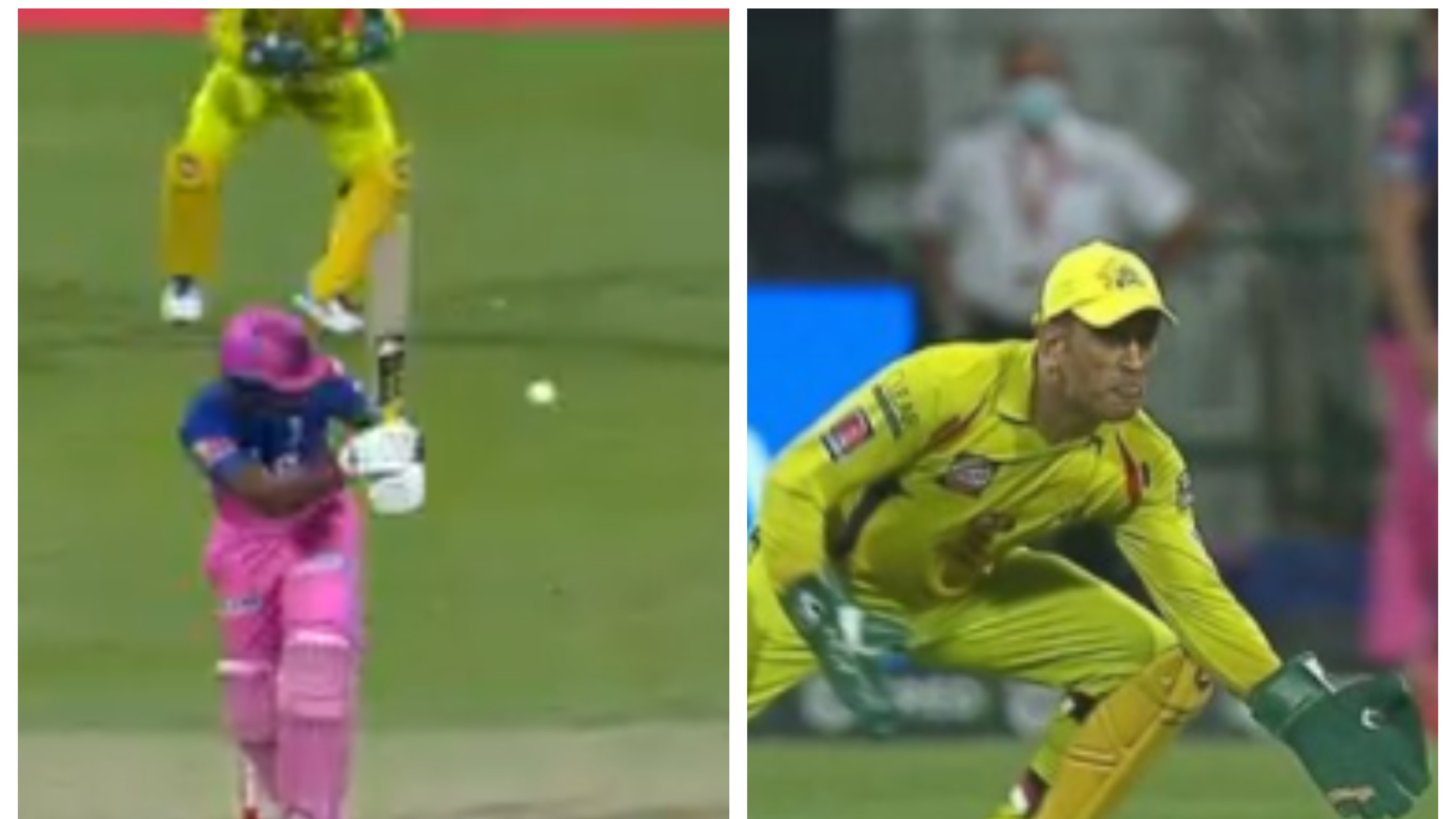 IPL 2020: WATCH – MS Dhoni's stunning one-handed grab to get rid of Sanju Samson