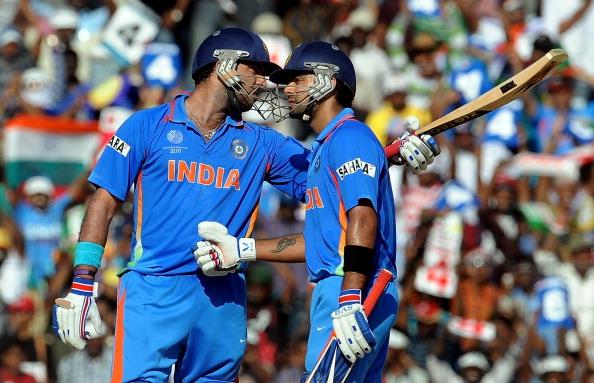 Yuvraj Singh and Virat Kohli during 2011 World Cup | Getty