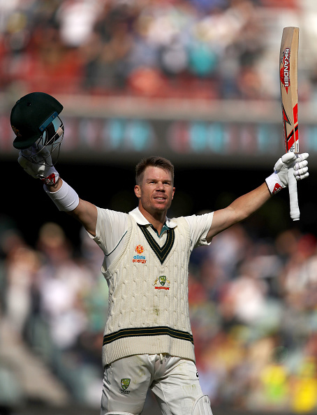 David Warner after scoring a triple century at Adelaide | Getty