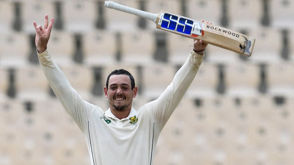 WI v SA 2021: Quinton de Kock opens up about his unique celebration after hitting century in 1st Test