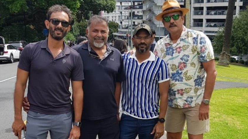 NZ v IND 2020: Ravi Shastri posts photo from Auckland, Michael Vaughan drops an unexpected reply