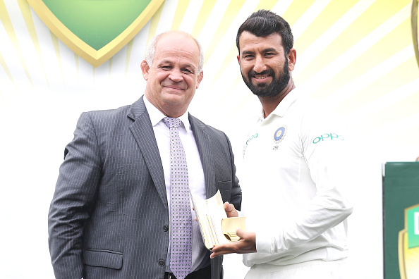 Cheteshwar Pujara won the man of the series | GETTY