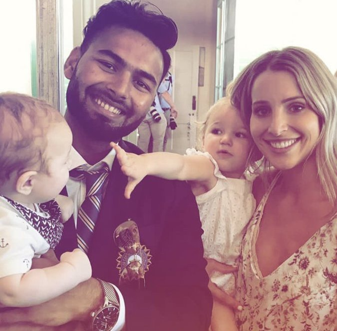 Rishabh Pant with Tim Paine's wife and kids | Instagram