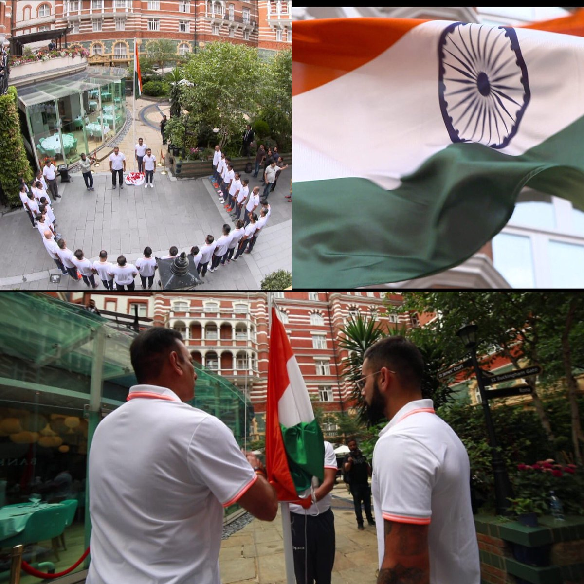 The Indian team celebrating the Independence Day at the Taj London | Twitter