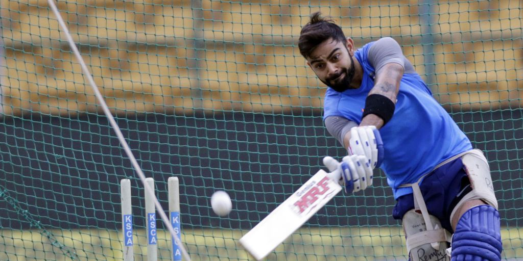 India skipper Virat Kohli also sweat it out at the nets | AP