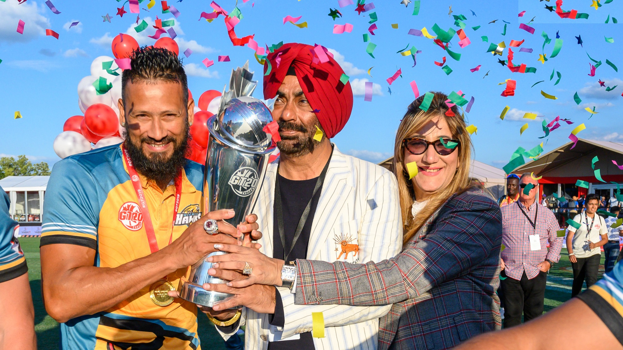 Gurmeet Singh with GT20 Canada 2019 winners | Gt20 Canada