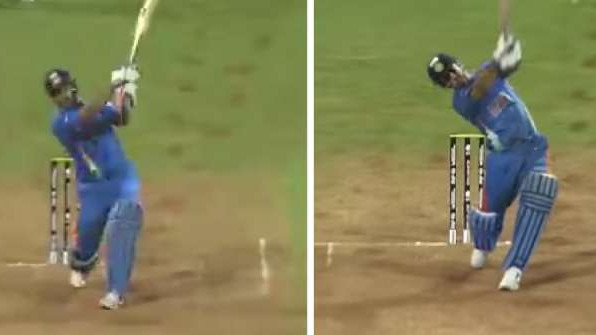 WATCH: Sushant Singh Rajput shares a video of his reel six alongside Dhoni's original from 2011 World Cup final