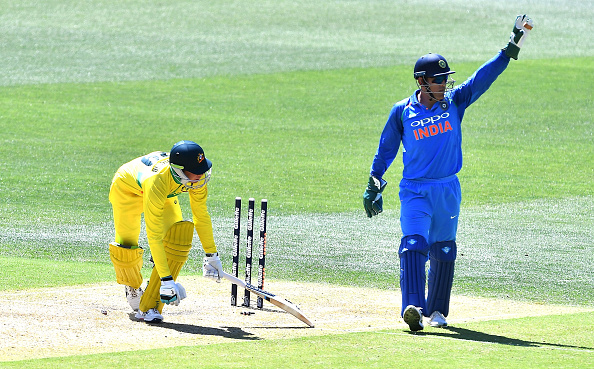 MS Dhoni stumps Peter Handscomb | GETTY