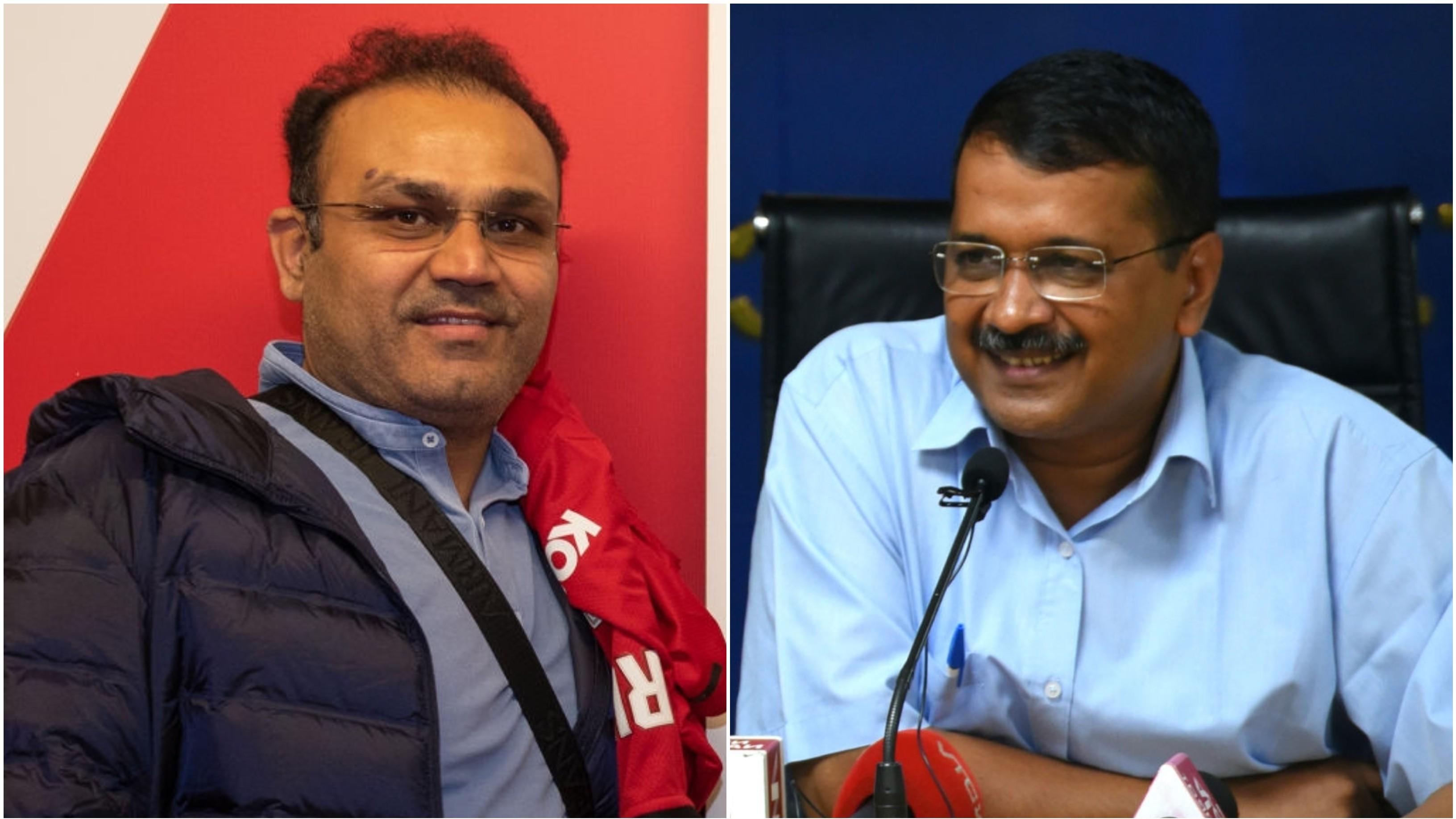 वीरेंदर सहवाग ने दिल्ली सरकार के डेंगू के खिलाफ चलाये गए अभियान का किया समर्थन, अरविन्द केजरीवाल ने किया धन्यवाद