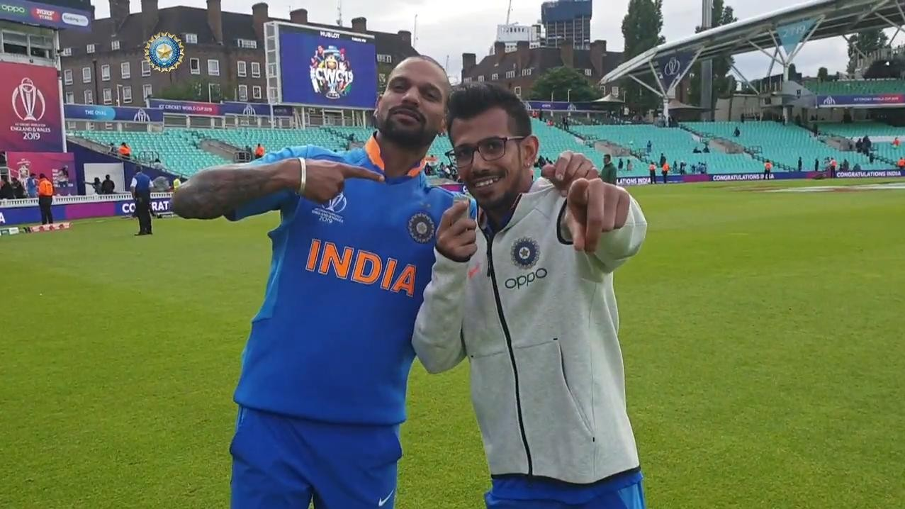 CWC 2019: WATCH - Shikhar Dhawan finally appears on Chahal TV!