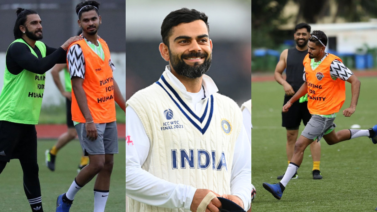 Count me in next time, Kohli on Iyer's photo ft. Dhoni and Ranveer from All-Stars football match
