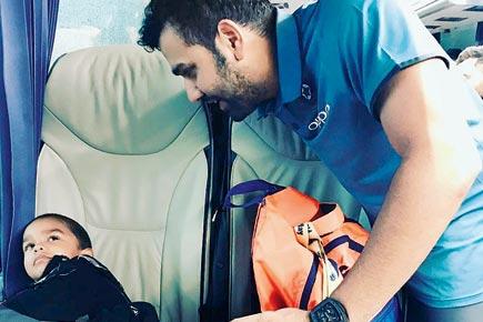 Rohit Sharma playing with Zoravar | Instagram