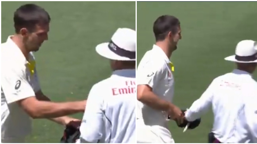 AUS v IND 2018-19: WATCH- Mitchell Marsh creates humor with on-field umpire during the second Test