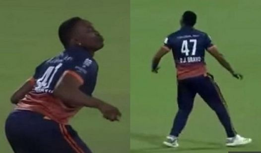 Dwayne Bravo gets down to doing the chicken dance