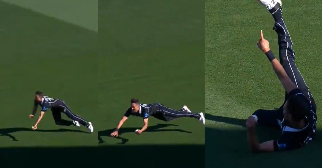 Trent Boult's outstanding fielding effort to dismiss Liton Das | Screengrab