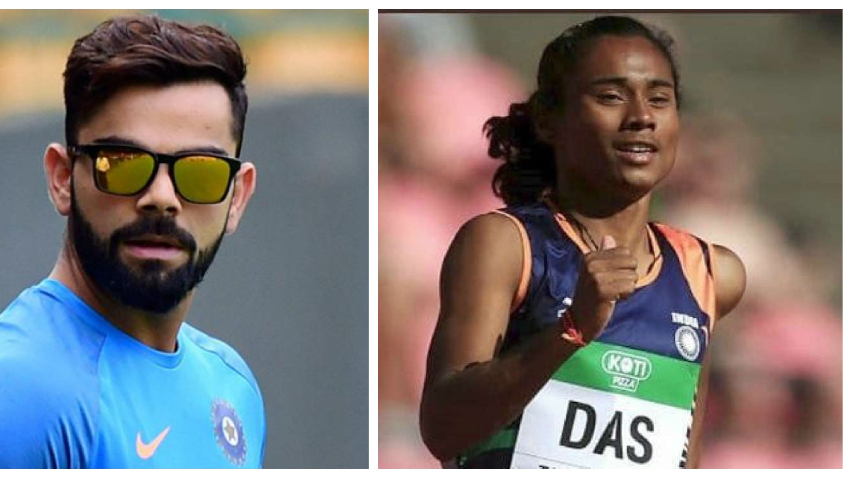 Virat Kohli applauds India's first track and field gold medal winner Hima Das on Twitter