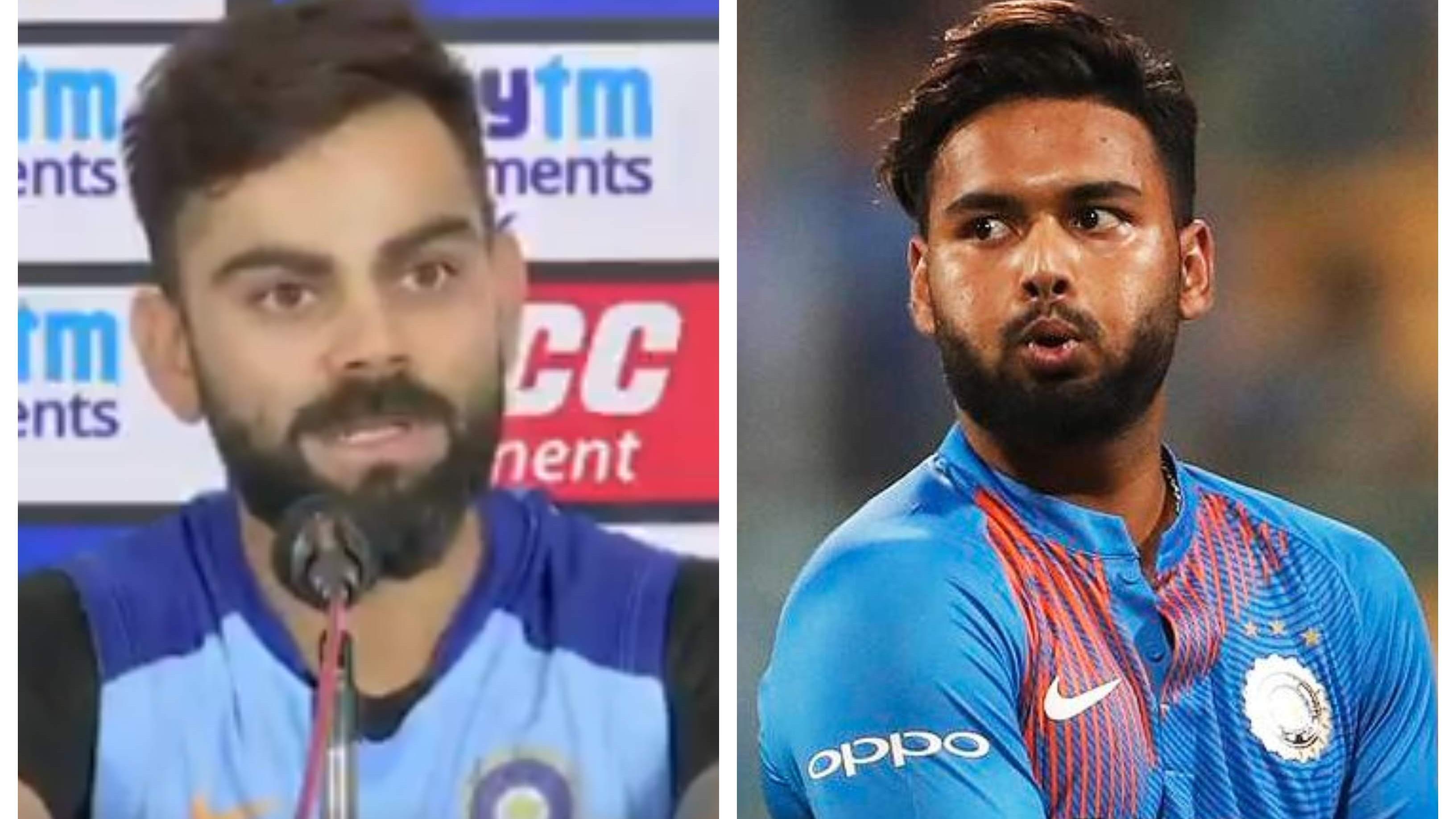 "IND v WI 2019: WATCH – ""Rishabh Pant needs to be left alone,"" says Virat Kohli ahead of 1st T20I"
