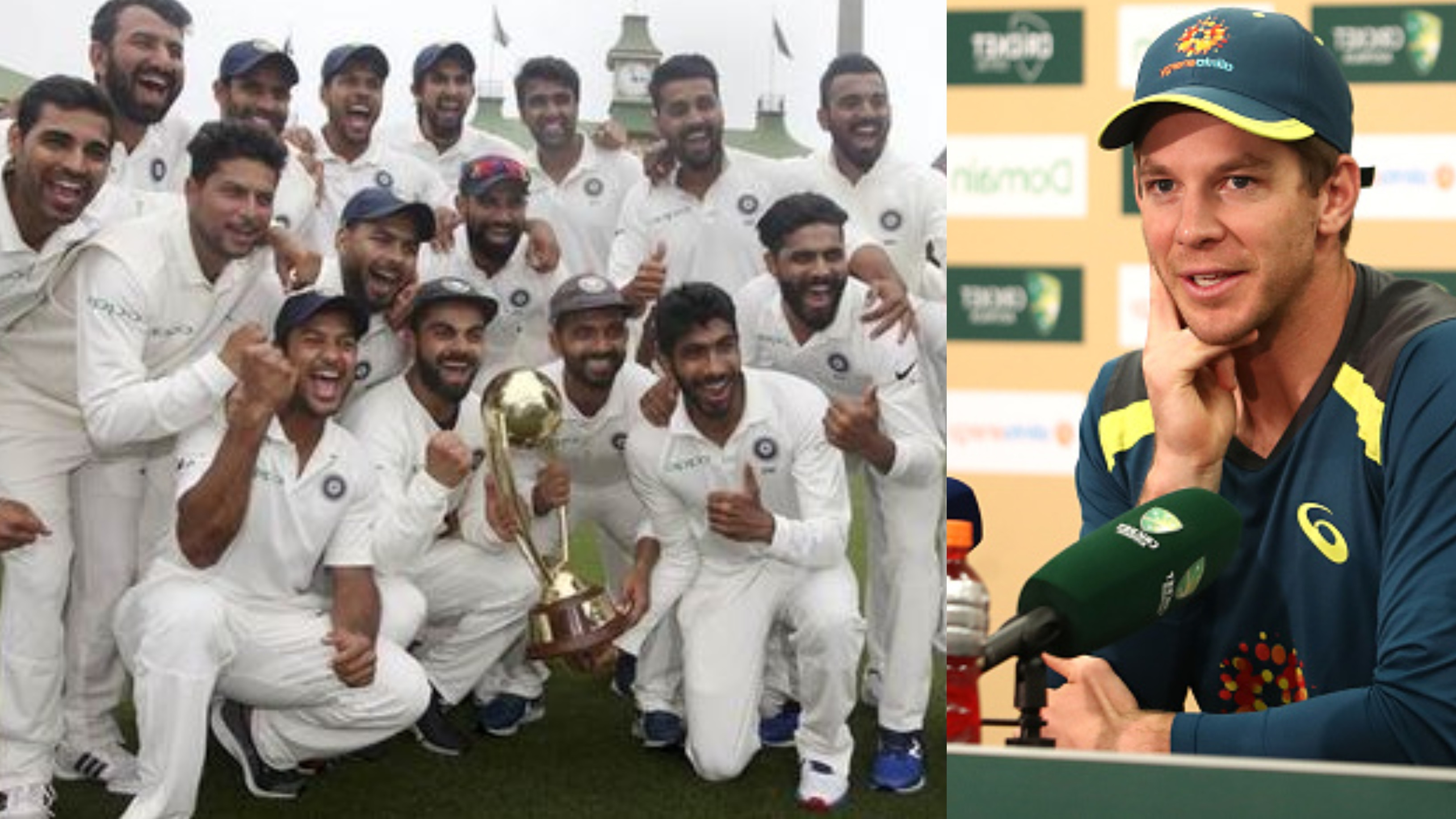 AUS v IND 2018-19: Tim Paine congratulates Virat Kohli and Ravi Shastri on historic Test series win