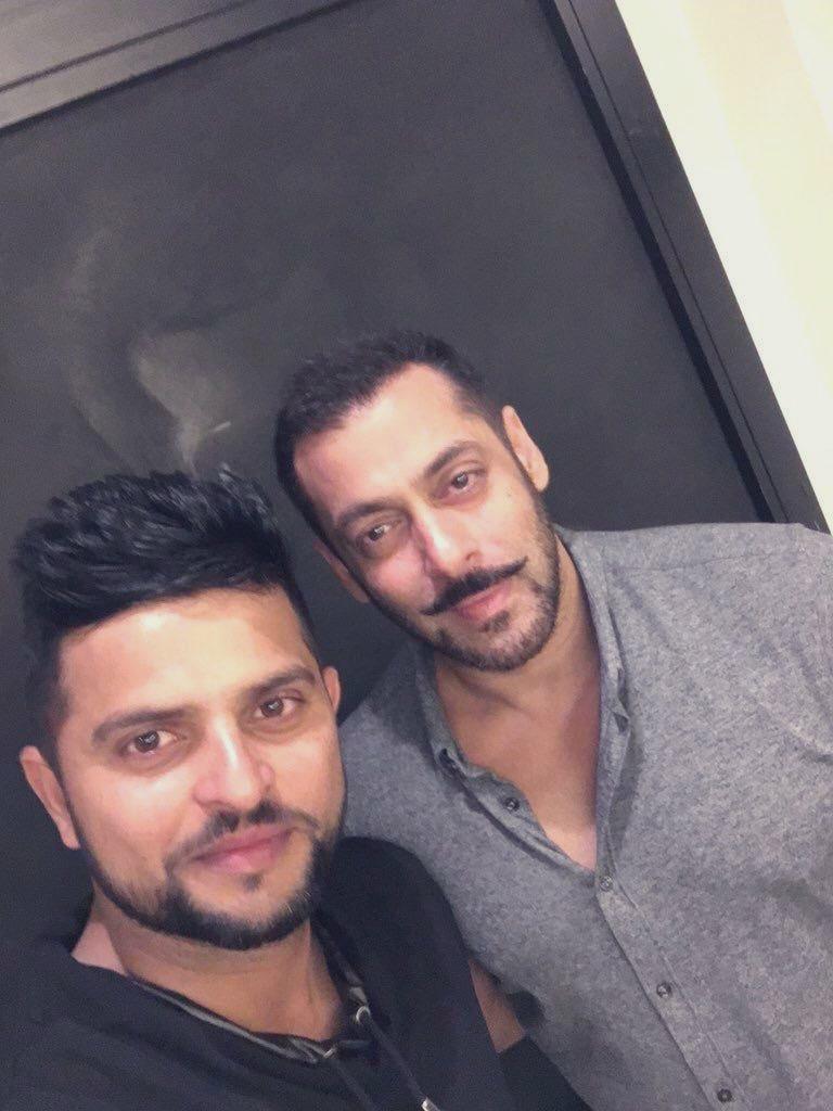 Salman Khan and Suresh Raina | Twitter
