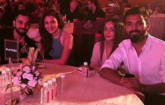 Virat Kohli and Anushka Sharma with KL Rahul | Instagram