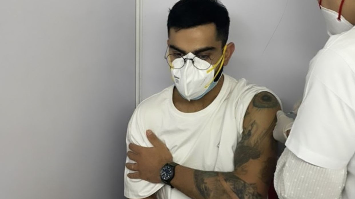 Virat Kohli gets first dose of COVID-19 vaccine; urges fans to get vaccinated