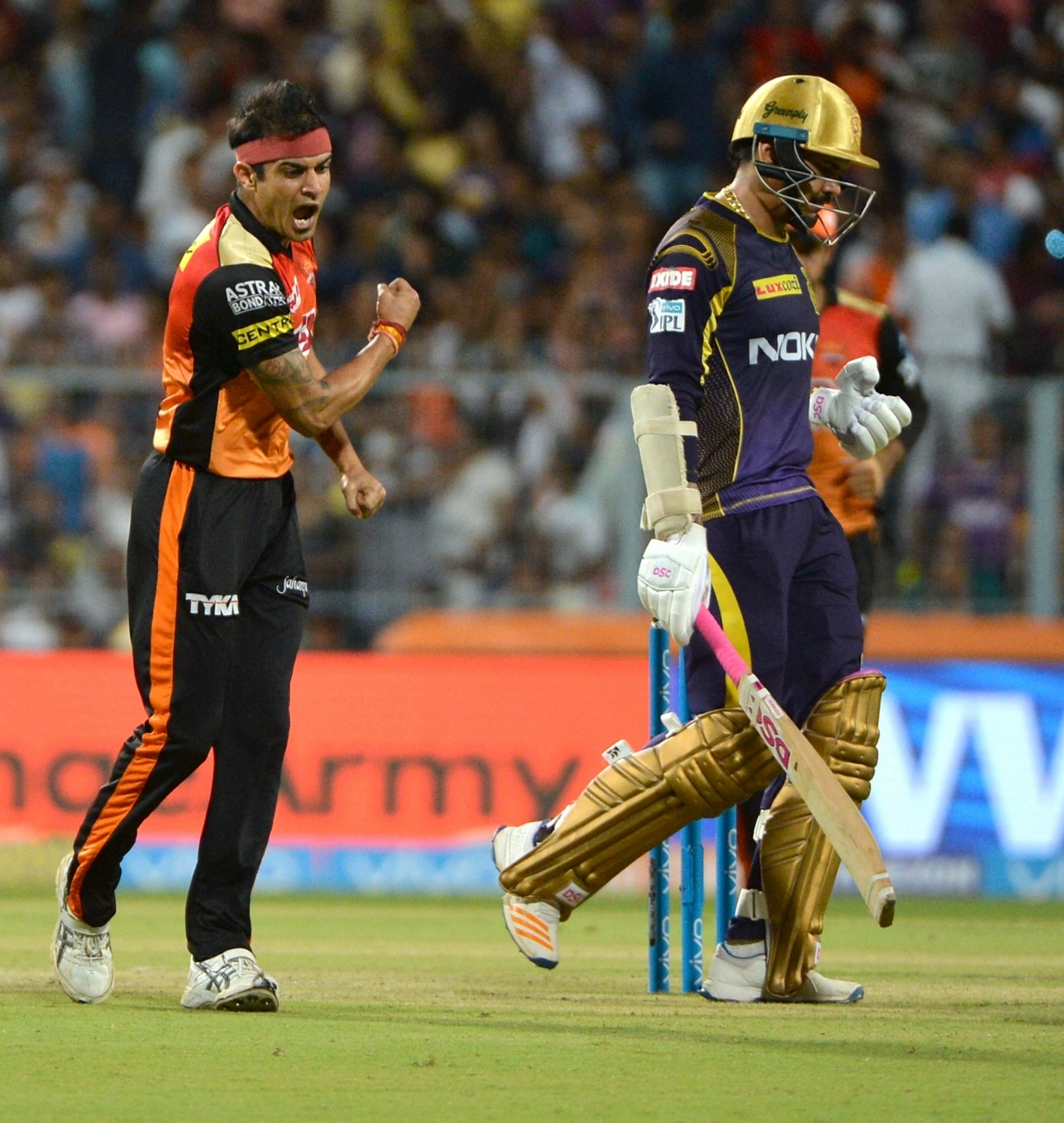 Siddarth Kaul during the match against KKR at Eden Gardens | IANS